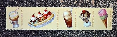 2016USA 5093-5097 FOREVER SODA FOUNTAIN FAVORITES - STRIP OF 5 - MINT NH