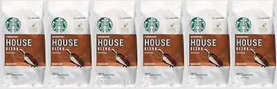 6 PACK Starbucks House Blend Medium Ground Coffee 12 Oz Best Before July 2020