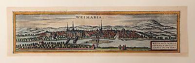 WEIMAR 1580 Braun Hogenberg Original Kupferstich Altkoloriert Thüringen