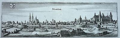 Merian: Original Kupferstich Ansicht Wiener Neustadt Niederösterreich; 1649ff