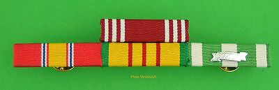 Army 4 Ribbon Bar - Vietnam War Service - made in USA - Good Conduct Ribbon
