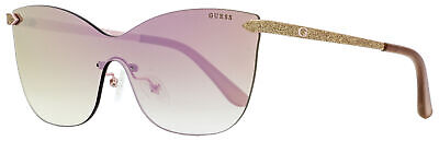 Guess Shield Sunglasses GU7549 28U Gold/Rose 0mm (Guess Shield Sunglasses)