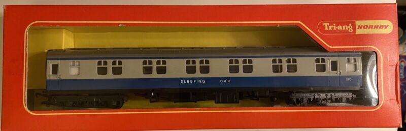 TRIANG HORNBY R339 BR BLUE GREY MK1 SLEEPING CAR COACH 2510 DARK grey ROOF