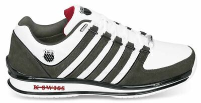 LIMITED EDITION! K-Swiss Mens Rinzler SP Stripes White Trainers Sneakers