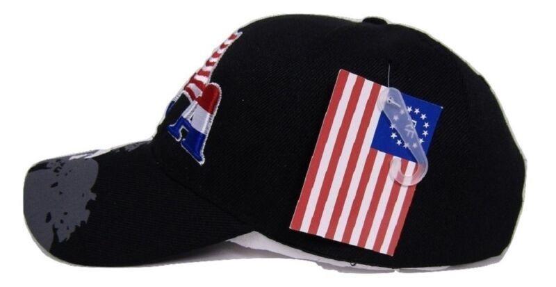 Baseball Cap Flag Bald Eagle Shadow Flag Embroidered Baseball Cap Hat Premium