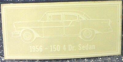 1956 Chevy 150 4 Door Sedan Window Decal