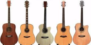 Acoustic Guitars, Electric Guitars, Bass Guitars, Ukuleles for Beginners, Children, Intermediate players !