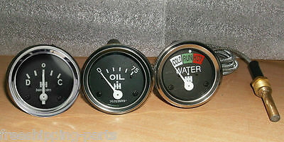 Ih Farmall Tractor Gauge Set Tempoil Prampere 240 300 330 340