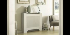 MAYFAIR MEDIUM WHITE PAINTED RADIATOR COVER New