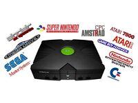 Original XBOX Complete Set Up, 160GB HD Upgrade Fully Loaded Emulators etc