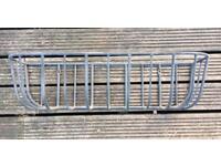 Metal wall trough planter