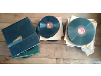 LARGE SELECTION OF 78RMP RECORDS w/ VINTAGE CASES