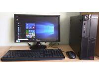 "Lenovo Windows 10 Pro Slim PC Computer/WIFI/2GB RAM/250GB/19""Widescreen Monitor"