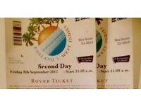 LORDS cricket England v's W Indies Friday 8th September. ROVER tickets One Adult one U16