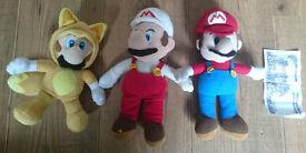 Large bundle of Super Mario Bros Plushes. Nintendo! Mario!! Donkey Kong!!!