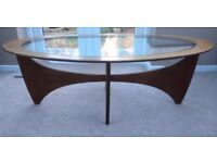 VINTAGE G PLAN OVAL COFFEE TABLE