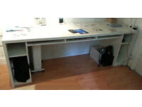Professionally custom made, really solid build desk with integrated storage