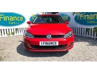CAN'T GET CREDIT? CALL US! Volkswagen Golf 1.6 TDI S (BMT)(s/s) - £200 DEPOSIT, £62 PER WEEK