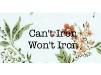 Can't iron won't iron, home based ironing service