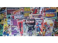 WANTED Marvel, DC or independent comic books, will collect and pay on collection