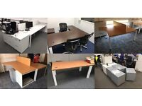 Office Clearance . Commercial desks, tambor door cupboards, & under desk pedestal drawer units