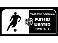 Football club recruiting players