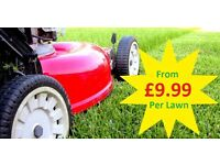 Low Cost Grass cutting from £9.99