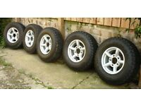 ZU Alloy Wheels x5 with General Grabber AT2 tyres