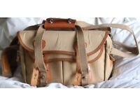 Classic Professional Billingham 335 Camera Bag Tan Leather & Khaki Canvas.