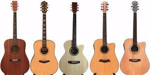 50% DE REDUCTION SUR VOTRE SHIPPING COST! Guitares acoustiques, guitares électriques, guitares basses, Ukuleles