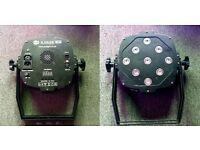 2 x LEDJ Slimline 9Q8 Flat LED Par Can