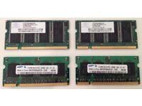2 x 512MB DDR Laptop RAM + 2 x 512MB DDR2 Laptop RAM