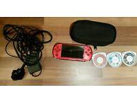 Sony PSP 3003 Radiant Red Console and Games