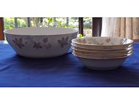 Paragon Ware Bone China Enchantment Design Dessert Bowl and Fruit Dishes.