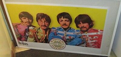 BEATLES RARE NEW POSTER 2016 VINTAGE COLLECTABLE  SGT PEPPERS PAUL RINGO