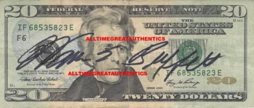 WARREN E. BUFFETT SIGNED AUTHENTIC AMERICAN $20 BILL MONEY w/COA INVESTOR PROOF