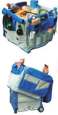 Organiser storage bag AND folding storage crate box pull along wheeled trolley