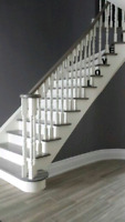 STAINING SERVICES FOR NEW RAW STAIRCASES
