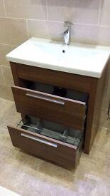 Roper Rhodes Walnut 700mm Freestanding Bathroom Unit Including Basin