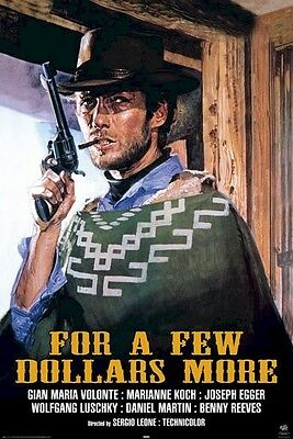 FOR A FEW DOLLARS MORE ~ DOORWAY 24x36 MOVIE POSTER Clint Eastwood Western