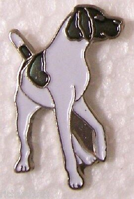 Hat Lapel Pin Scarf Clasp Dog Pointer NEW