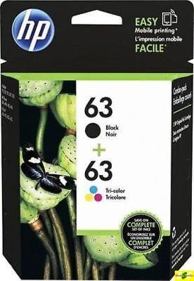 HP 63 Genuine Black & Color ink HP63 Combo Ink Cartridges New