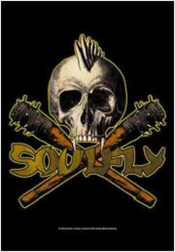 """Soulfly Tribal Skull/Clubs Cloth Textile Fabric Poster Flag Banner 30"""" x 40"""" New"""