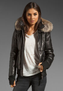 Mackage Annie Glam Leather Down puffer XS