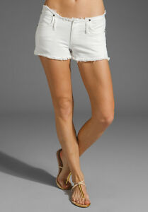 CITIZENS-OF-HUMANITY-TANGIER-WHITE-VINTAGE-IVORY-DENIM-SHORTS-W27-UK-8-10