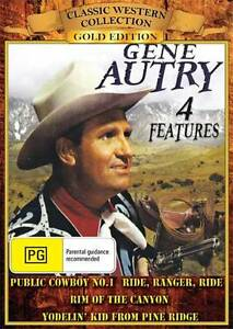 GENE AUTRY COLLECTION - 4 FILMS! - NEW & SEALED DVDS
