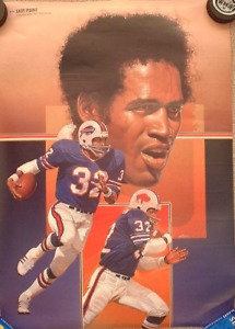 OJ Simpson (NFL Buffalo Bills) poster