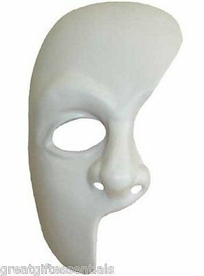 Masque Costumes (PHANTOM OF THE OPERA Costume Broadway MASK Masque White)