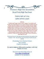 Women's High Tea Association  become a member today!