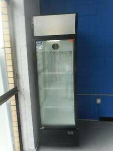 Second Hand Commercial Single Glass Door Bottle Fridge (MFF 438) Bundall Gold Coast City Preview